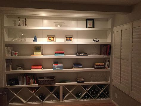 custom wine rack bookcase
