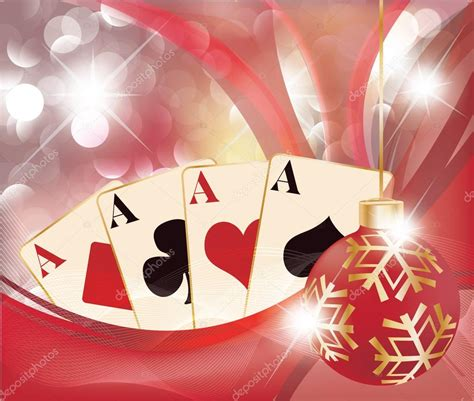christmas casino background vector stock vector