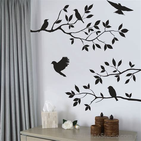 all wall stickers birds and branches wall decals wall decals san francisco by lot 26 studio inc