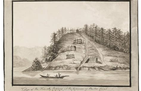 boat auctions vancouver bc early west coast sketch of friendly indians near