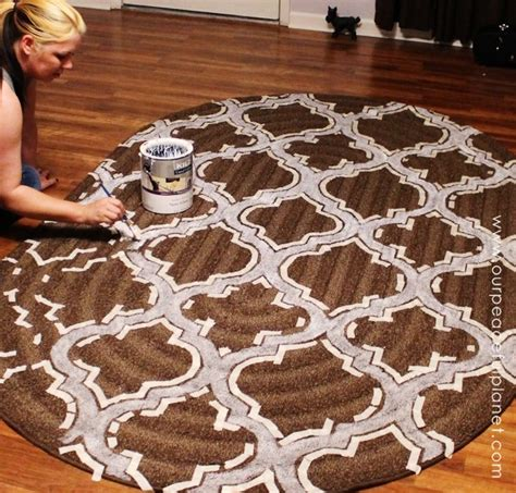 how to paint an area rug how to stencil paint carpet our peaceful planet
