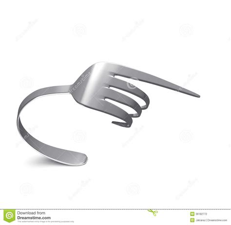 bent fork stock photography image 36182772