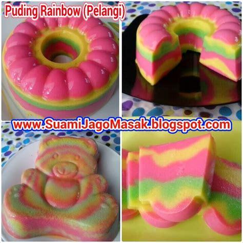 membuat puding rainbow resep 10 puding rainbow pelangi resep suami jago masak