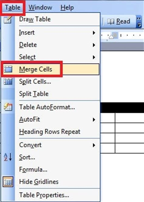 word split and merge cells for tables and tables in word