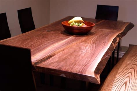 harvest dining room tables live edge black walnut harvest table contemporary