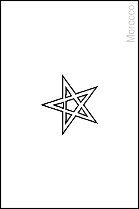 image gallery morocco flag coloring page