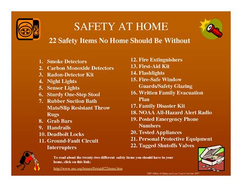 Safe At Home by October National Safety Month Winchestersbesthandyman