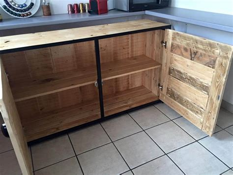 diy pallet kitchen cabinets pallet wood sideboard kitchen cabinets 101 pallets