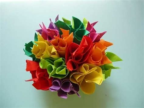 How To Make An Origami Bouquet - bouquet origami