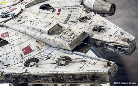Millenium Falcon Papercraft - spends 4 years building extremely detailed millennium