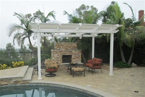 outdoor fireplace covers patio covers patio upgrades alan smith pools orange ca