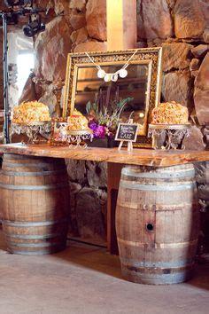 barrel buffet table