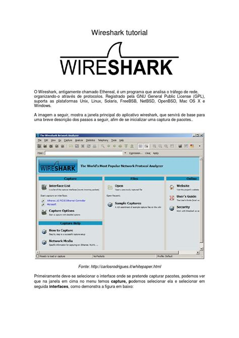 tutorial de wireshark wireshark tutorial by carlos rodrigues issuu