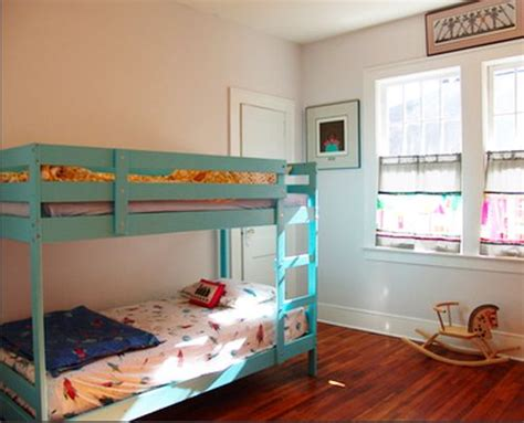 mydal bunk bed ikea mydal bunk bed painted blue bunks pinterest