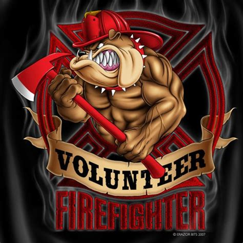 volunteer firefighter dog patriotic logo t shirt