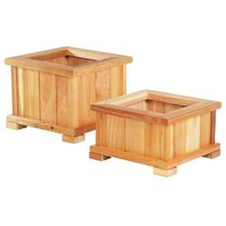 small square modern wood planter boxes with legs for deck or garden patio house design ideas