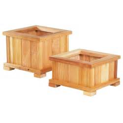small square modern wood planter boxes with legs for deck