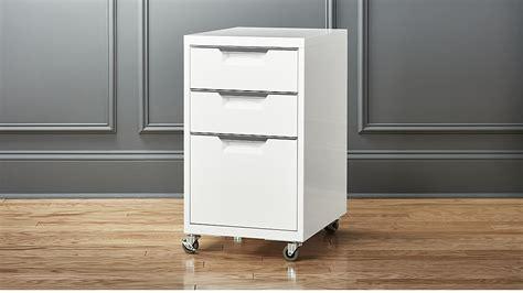 TPS 3 drawer white file cabinet   CB2