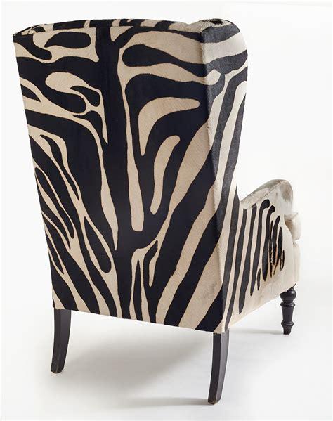 Zebra Chair by 20th Century Faux Zebra Wingback Chairs Fritz