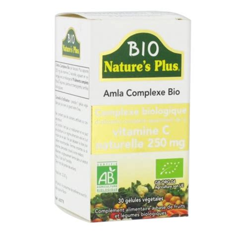 Bio Nature Plus Original nature s plus amla complexe bio 30 gelules easyparapharmacie