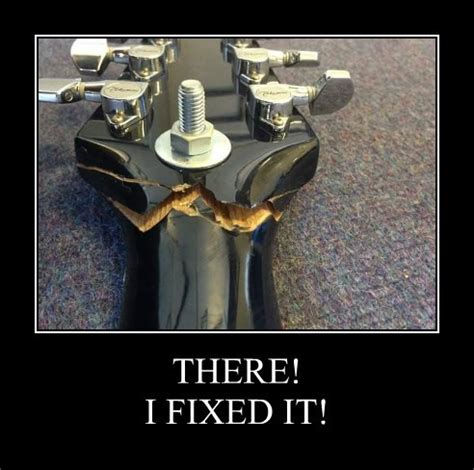 There I Fixed It there i fixed it guitar fail
