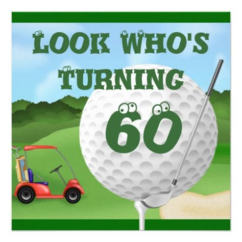 anniversary card golf template golf 60th birthday invitations template 5 25 quot square