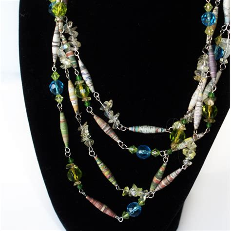 How To Make A Paper Bead Necklace - necklace from paper