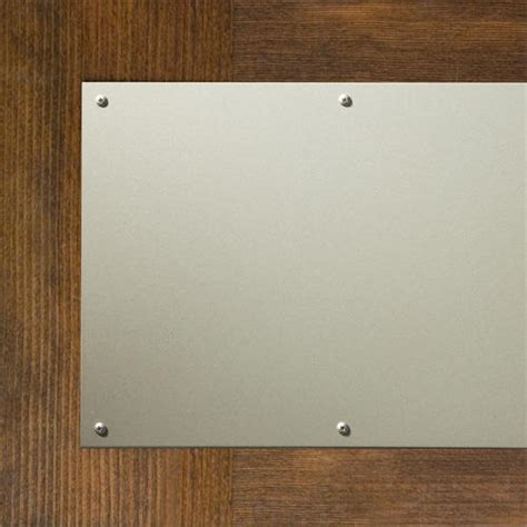 Magnetic Kick Plates For Exterior Doors Solid Aluminum Magnetic Kick Plate Hardware