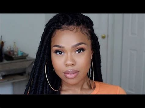 loc style tutorial 8 faux bangs styles youtube easy faux locs tutorial protective style youtube