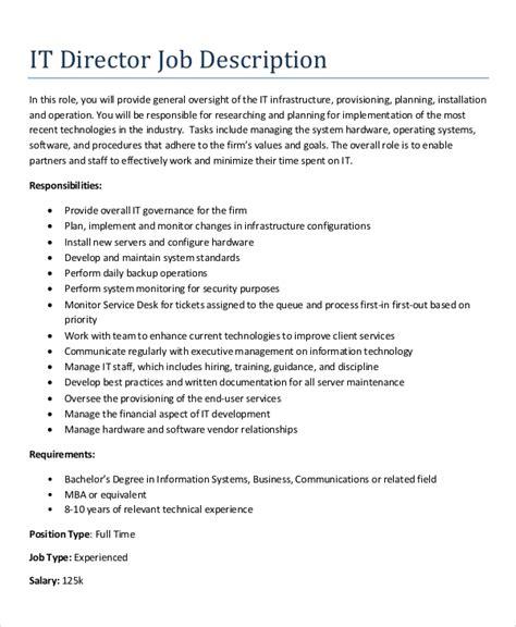 10 It Job Description Sles Sle Templates It Description Template