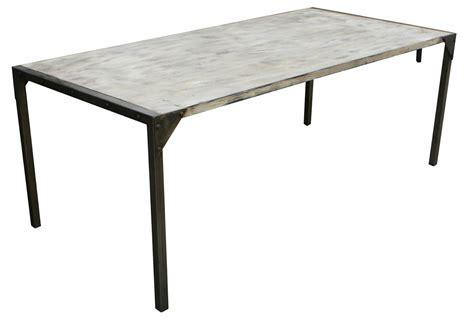 metal top dining room table metal top dining room table berkeley house metal top