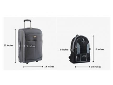 united airlines bag information airline carry on size