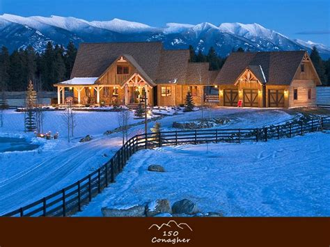 montana house western living in whitefish 4500 sq feet on 10 acres