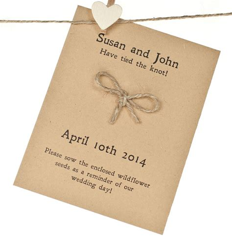 Wedding Tie The Knot tie the knot wedding favour seed packet wedding favour