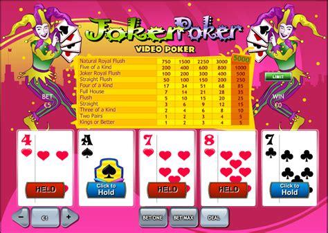 joker poker  video poker rules strategy  play