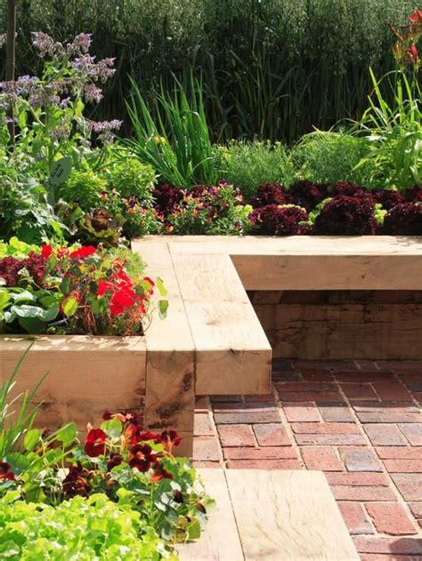 flower bed bench built in planter ideas the garden glove