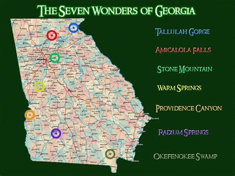 map of oregon 7 wonders and wonders on