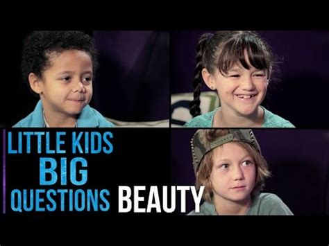 big questions from little 0571288510 小朋友回答 美是什麼 what is beauty little kids big questions voicetube 看影片學英語