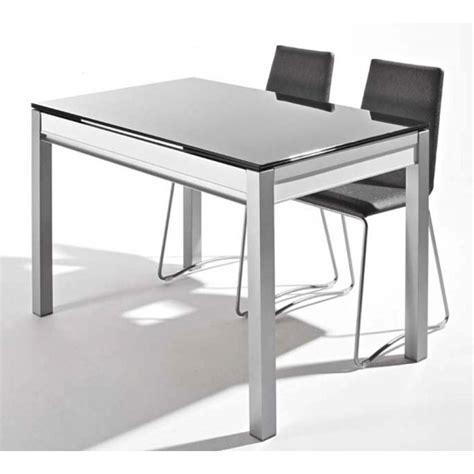 table cuisine murale avec pied table en verre avec tiroir et allonges dama