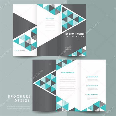 modern tri fold brochure template design stock vector