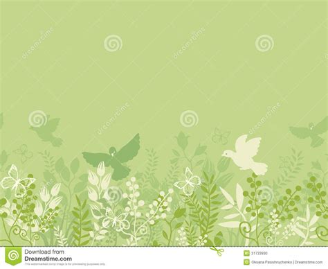 seamless pattern nature green nature horizontal seamless pattern stock photo