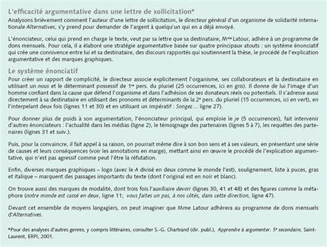 Exemple De Lettre Ouverte Secondaire 5 L Argumentation Ii Qu Est Ce Que L Efficacit 233 Argumentative Correspondance