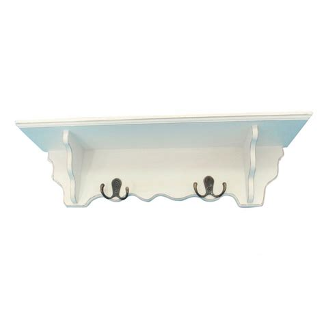 mensola da cucina mensola da cucina bagno con gancetti in legno bianco