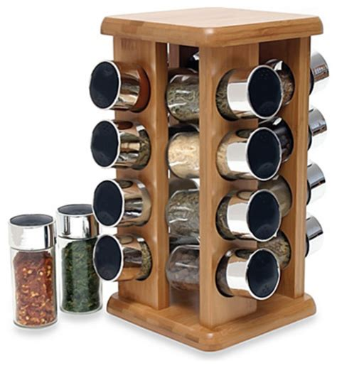 Revolving Spice Rack Without Spices Buydealsnow Rotating Bamboo Spice Rack With Plastic