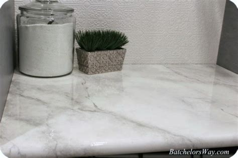 Faux Marble Countertop by Remodelaholic 30 Diy Faux Marble Countertops