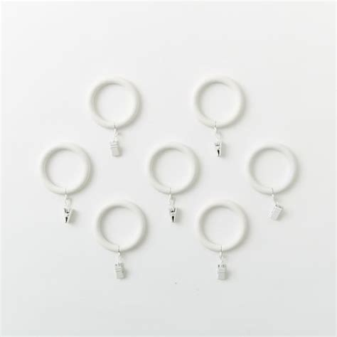 white metal curtain rings oversized metal curtain rings clips set of 7 white