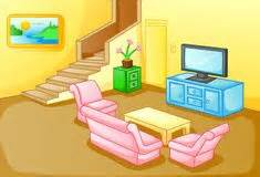 Cartoon family living room stock photos images amp pictures 271