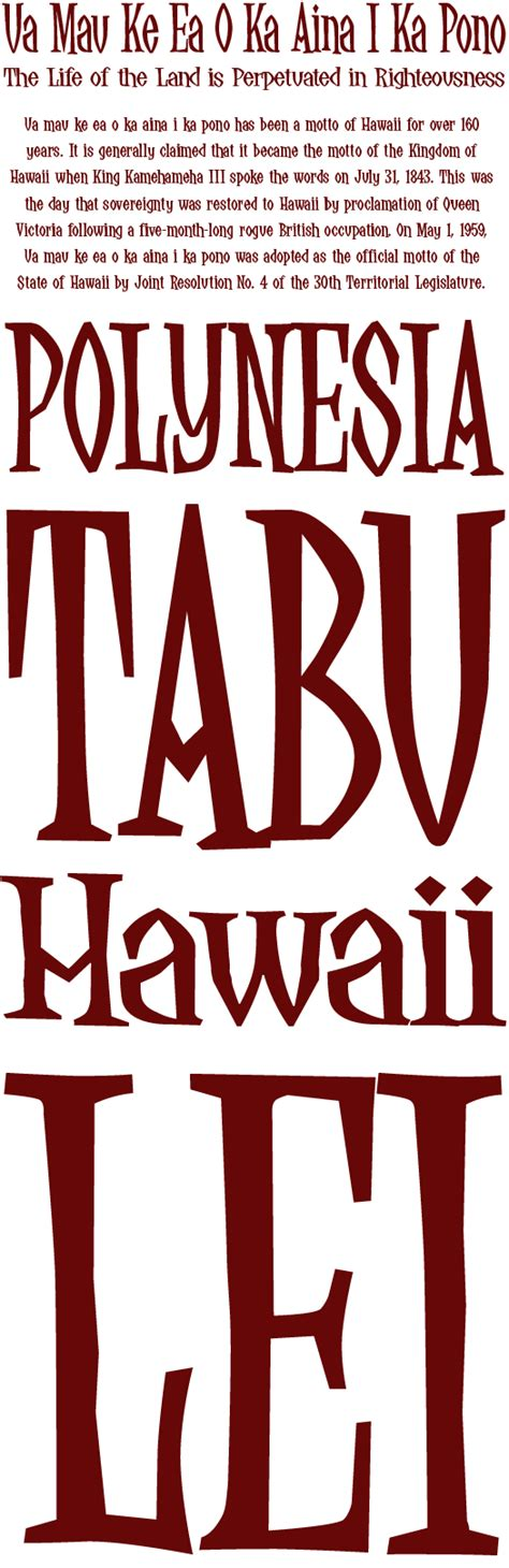 hawaiian style fonts related keywords suggestions