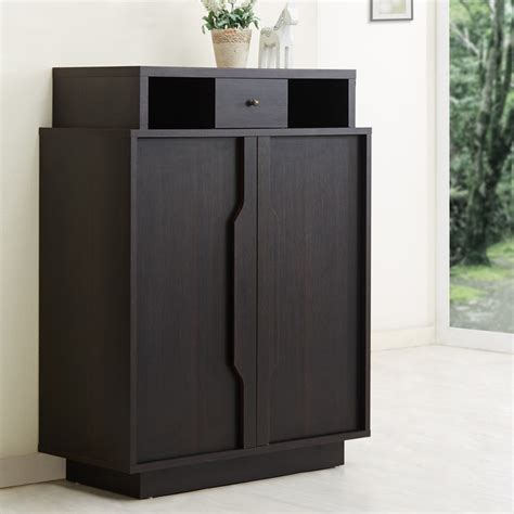 enclosed shoe storage furniture of america arthurie espresso enclosed 5 shelf