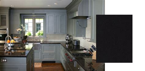 Grey Kitchen Cabinets With Black Countertops by Countertops For Grey Cabinets Builders Surplus